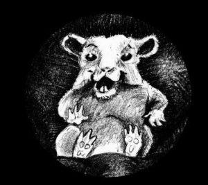 Zeichnung vom Hamster im Sessel