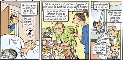 Cartoon con Sussi Bech und Frank Madsen