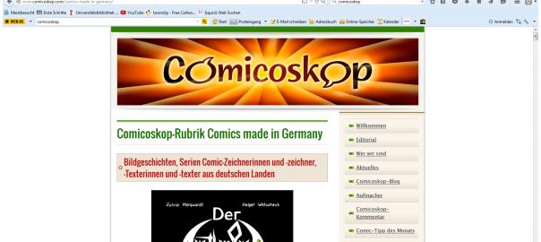 Screenshot Comicoskop.com