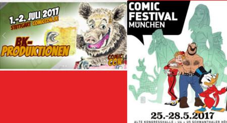 Comicfestival München, ComicCon Germany Stuttgart